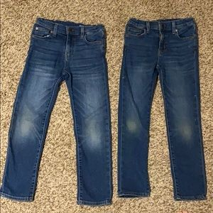 2 pairs J Crew Crewcuts Girls 7 Slim denim jeans